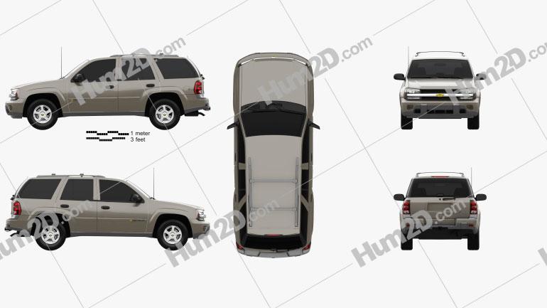 Chevrolet TrailBlazer LT 2002 car clipart