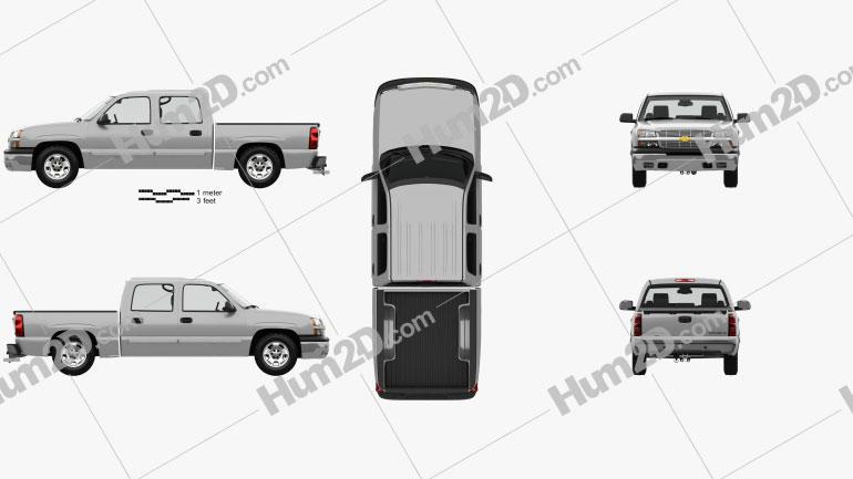 Chevrolet Silverado 1500 Crew Cab Short Bed with HQ interior 2002 car clipart