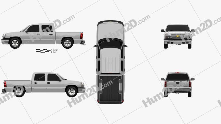 Chevrolet Silverado 1500 Crew Cab Short Bed 2002 car clipart