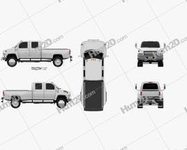 Chevrolet Kodiak C4500 Crew Cab Pickup 2006 clipart
