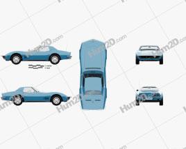 Chevrolet Corvette (C3) Convertible with HQ interior 1968