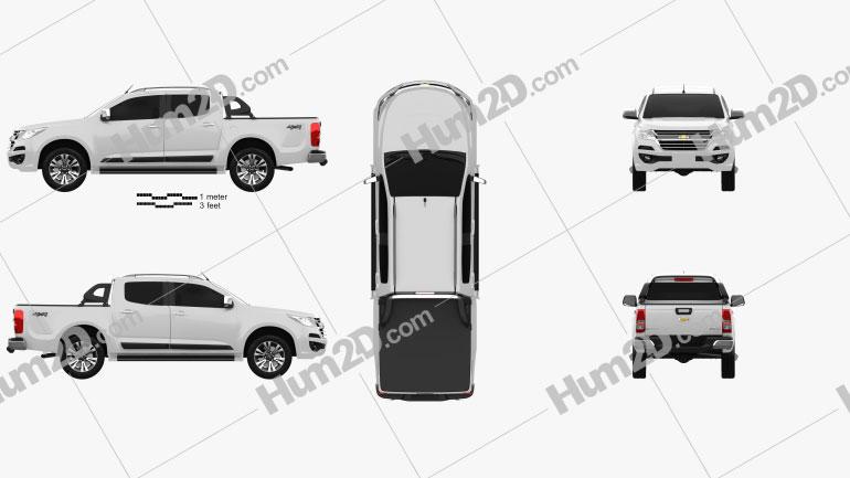 Chevrolet Colorado S-10 Double Cab LTZ 2016 car clipart