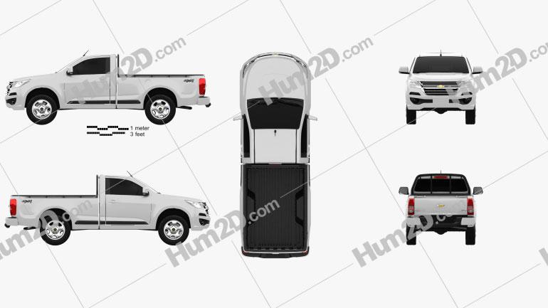 Chevrolet Colorado S-10 Regular Cab 2016 car clipart
