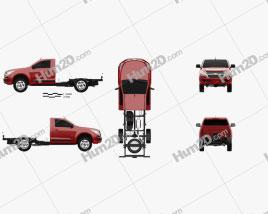 Chevrolet Colorado S-10 Regular Cab Chassis 2016 car clipart