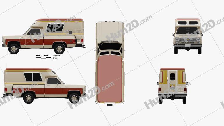 Chevrolet Blazer Chalet 1976 car clipart