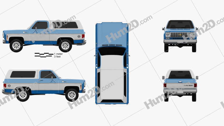 Chevrolet K5 Blazer 1976 Clipart Image