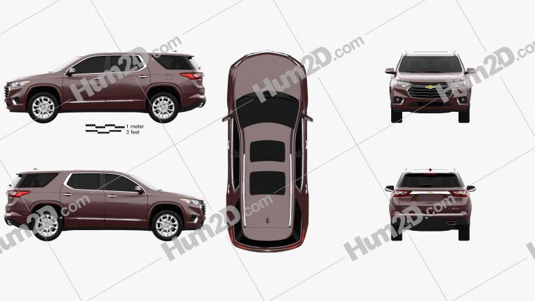 Chevrolet Traverse 2017 car clipart