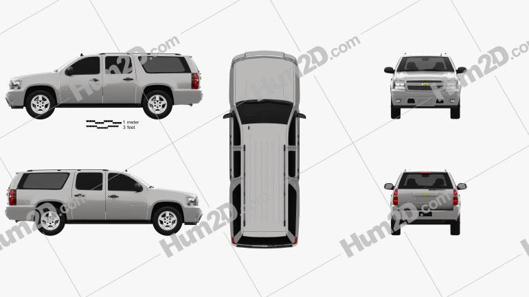 Chevrolet Suburban LT 2007 car clipart