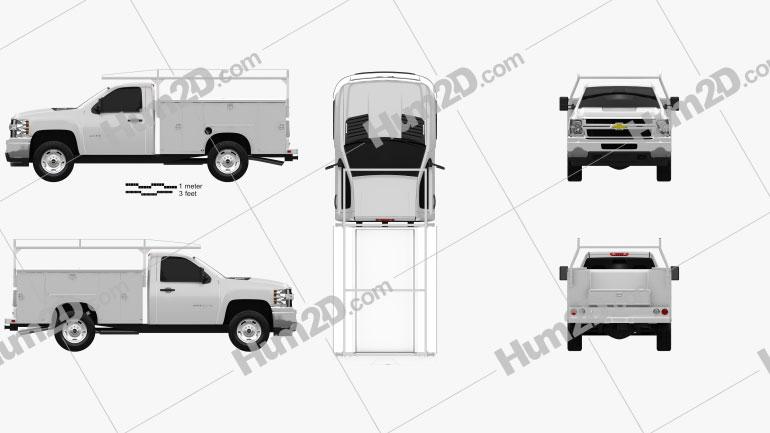 Chevrolet Silverado 2500HD Work Truck 2011 car clipart