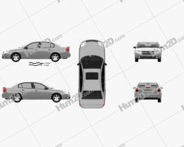 Chevrolet Malibu 2004 car clipart