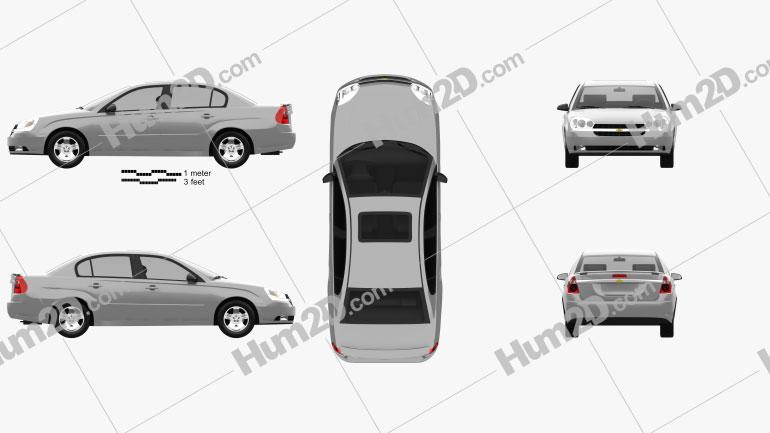 Chevrolet Malibu 2004 Clipart Image