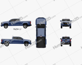 Chevrolet Colorado Crew Cab Long Box Z71 US-spec 2014 Clipart