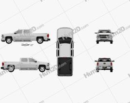 Chevrolet Silverado 1500 Crew Cab Standard Box High Country 2017 car clipart