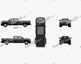 Chevrolet Silverado 3500HD Crew Cab Long Box High Country Dually Diesel 2017 car clipart