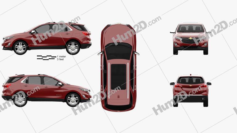 Chevrolet Equinox Premier 2018 car clipart