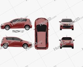 Chevrolet Sonic hatchback RS 2017 car clipart