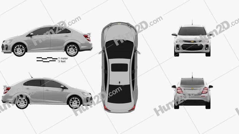 Chevrolet Sonic sedan RS 2017 Clipart Image