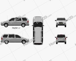 Chevrolet Uplander LS 2005 clipart