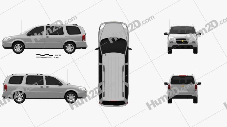 Chevrolet Uplander LS 2005 Clipart Image