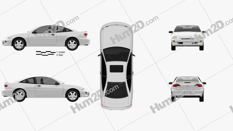 Chevrolet Cavalier Z24 1998 Clipart Image