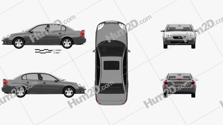 Chevrolet Malibu LTZ 2004 Clipart Image