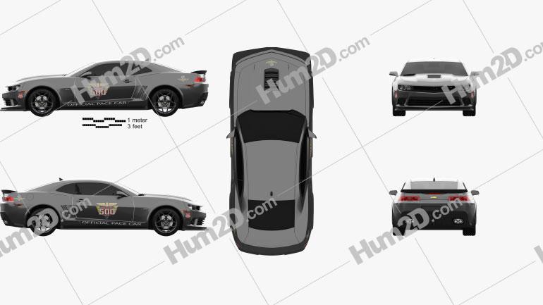 Chevrolet Camaro Z28 Pace Car coupe 2014 car clipart