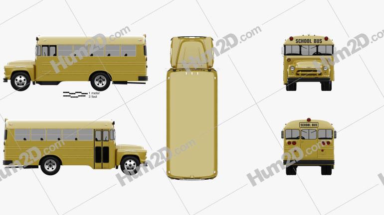 Chevrolet 4500 School Bus 1956 clipart