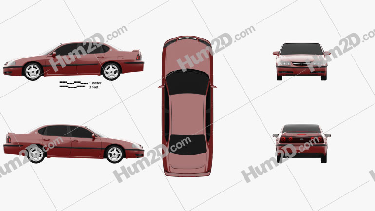 Chevrolet Impala SS 2004 Clipart Image