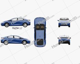 Chevrolet Volt with HQ interior 2015 car clipart