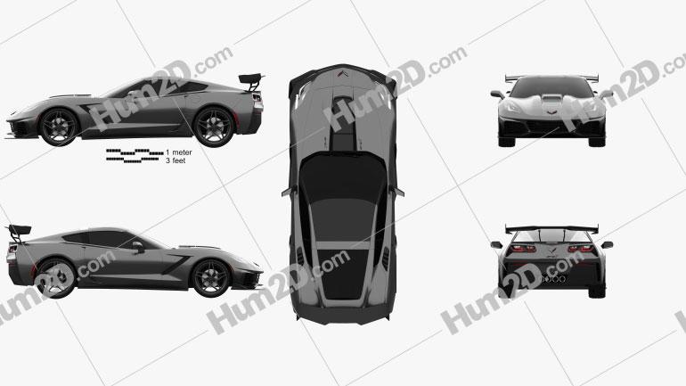 Chevrolet Corvette (C7) ZR1 coupe 2017 car clipart