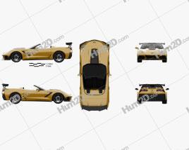Chevrolet Corvette (C7) convertible ZR1 2017 Clipart