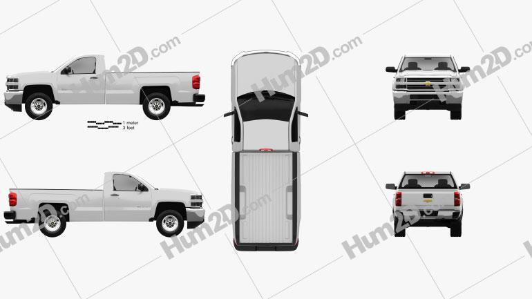 Chevrolet Silverado 2500HD Regular Cab Long Box WT 2017 car clipart