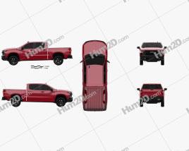 Chevrolet Silverado Crew Cab 1500 LT Z71 Trail Boss 2018 car clipart