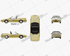 Chevrolet Beretta Indy 500 Pace Car 1990 car clipart