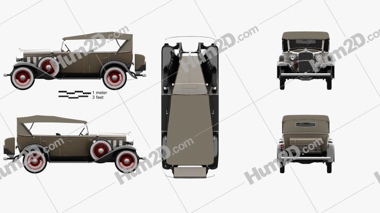Chevrolet Confederate 4-door Phaeton 1932 car clipart