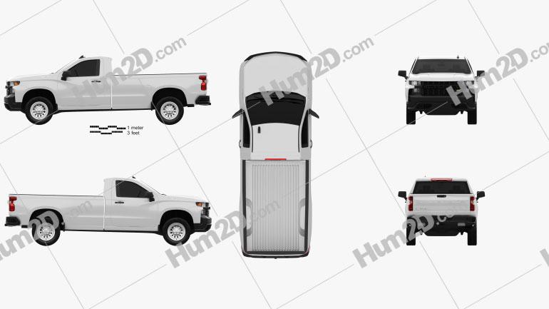 Chevrolet Silverado Regular Cab WT 2018 car clipart