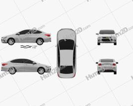 Chevrolet Cavalier LT 2016 car clipart