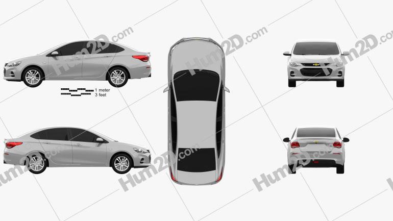 Chevrolet Cavalier LT 2016 Clipart Image