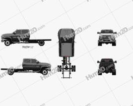 Chevrolet Silverado 4500HD Crew Cab Chassis 2018 car clipart