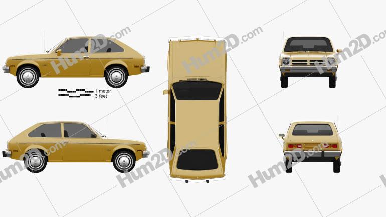 Chevrolet Chevette coupe 1976 car clipart