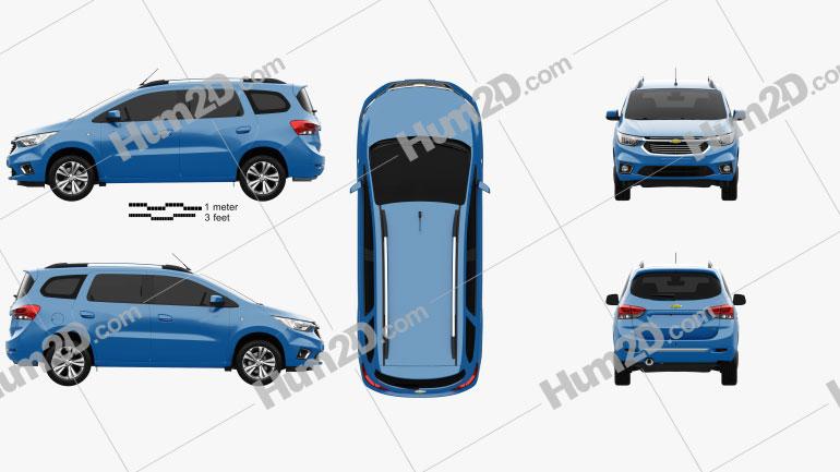 Chevrolet Spin LTZ 2018 Clipart Image