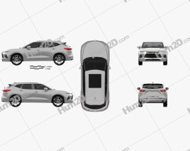 Chevrolet Blazer Premier 2019 car clipart