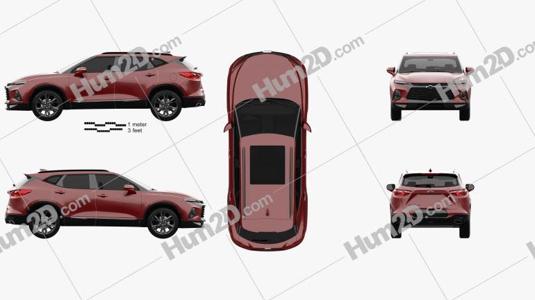 Chevrolet Blazer RS 2019 car clipart