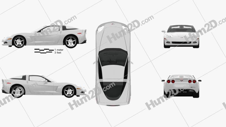 Chevrolet Corvette coupe with HQ interior 2011 car clipart