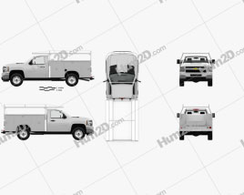 Chevrolet Silverado 2500HD Work Truck with HQ interior 2011