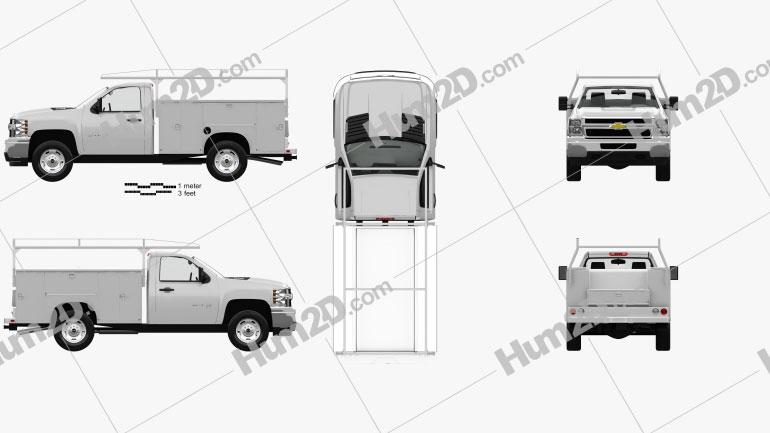 Chevrolet Silverado 2500HD Work Truck with HQ interior 2011 clipart