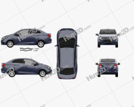 Chevrolet Beat sedan 2018 car clipart