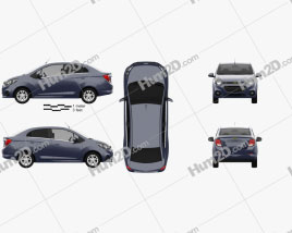 Chevrolet Beat sedan 2018 Clipart
