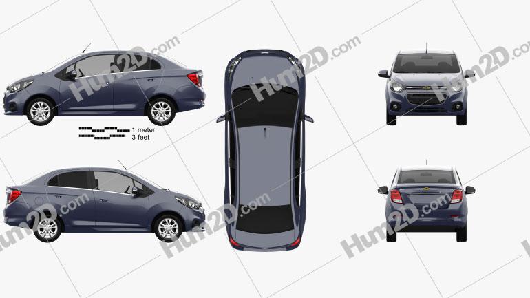 Chevrolet Beat sedan 2018 Clipart Image
