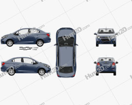 Chevrolet Beat LTZ sedan with HQ interior 2018 car clipart